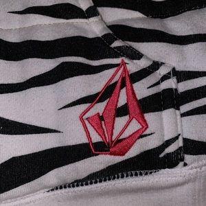 Volcom Jackets & Coats - VOLCOM Zebra Print Zip Hoody w/ Furr